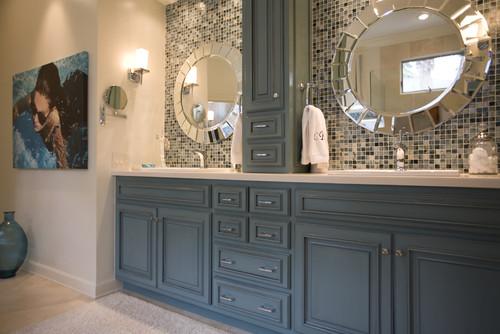 Ideas Blue Bathroom Cabinets On Www Weboolu Com