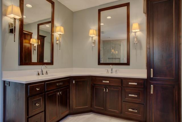 Sw full home remodel modern bathroom kansas city for Bathroom remodel kansas city
