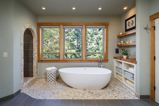 Sw Portland Custom Home Rustic Bathroom Portland