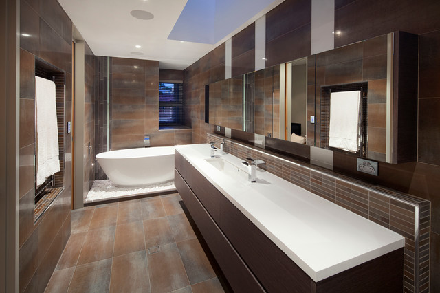 Swanbourne duplex 2012 contemporary bathroom perth by yael k designs Bathroom design perth uk