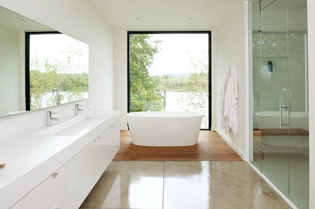 Sweeney lake house modern bathroom minneapolis by for Lake house bathroom ideas