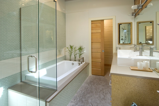 Swift Building Lofts modern-bathroom