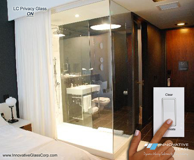 Switchable Glass Bedroom Bathroom Divider Wall Modern