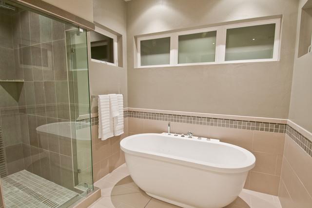 SYNERGY Master Bath Shower Tub Modern Bathroom Portland By DC Fine H