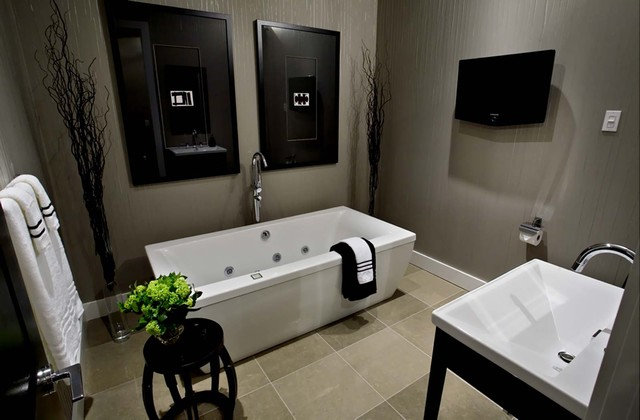 T Eatons Loft Bathroom contemporary bathroom