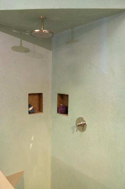 Tadelakt Shower Contemporary Bathroom