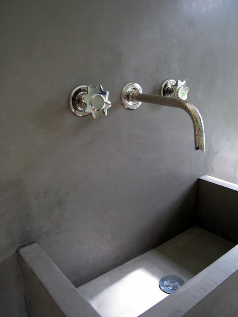 Tadelakt sink for Tadelakt bathroom ideas