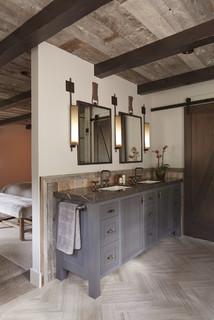 Tahoe Retreat Rustic Bathroom San Francisco By