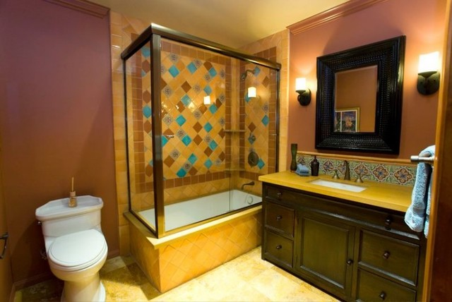 Talavera Tile Bathroom Eclectic Bathroom Los Angeles