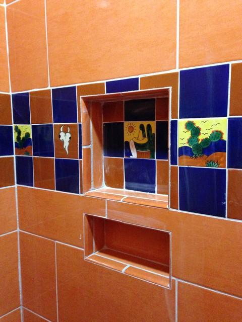 Talavera toilet tiles rustic bathroom houston by - Bathroom tiles talavera ...