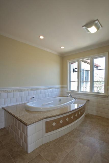 Tan And White Bathroom Modern Bathroom San Diego