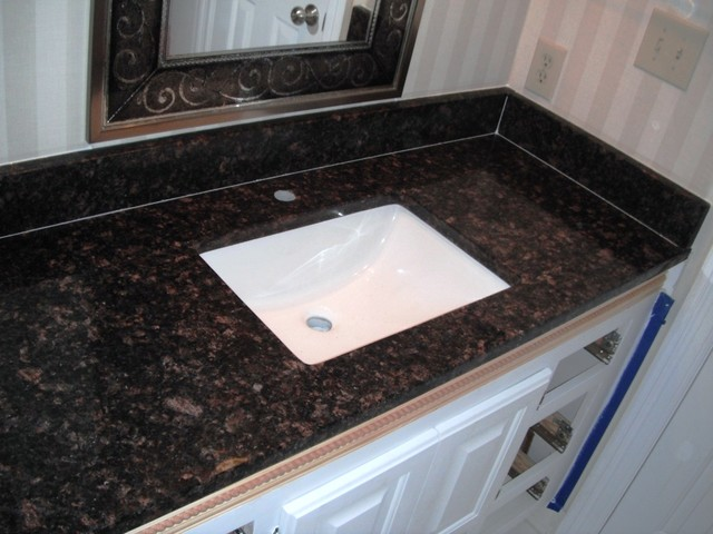 Tan Brown Granite 2 1 12 On White Kitchen Cabinets Traditional. Countertops For White Cabinets In Bathroom   Rukinet com