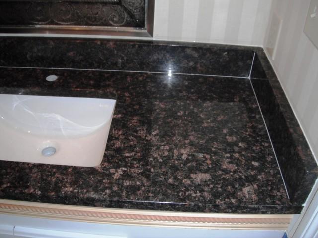 Tan Brown Granite 2-1-12 on White Kitchen Cabinets ...