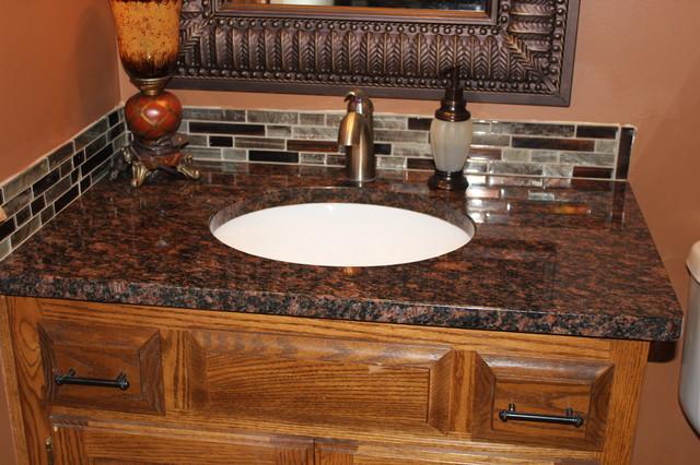 Tan brown granite traditional bathroom kansas city by midwest