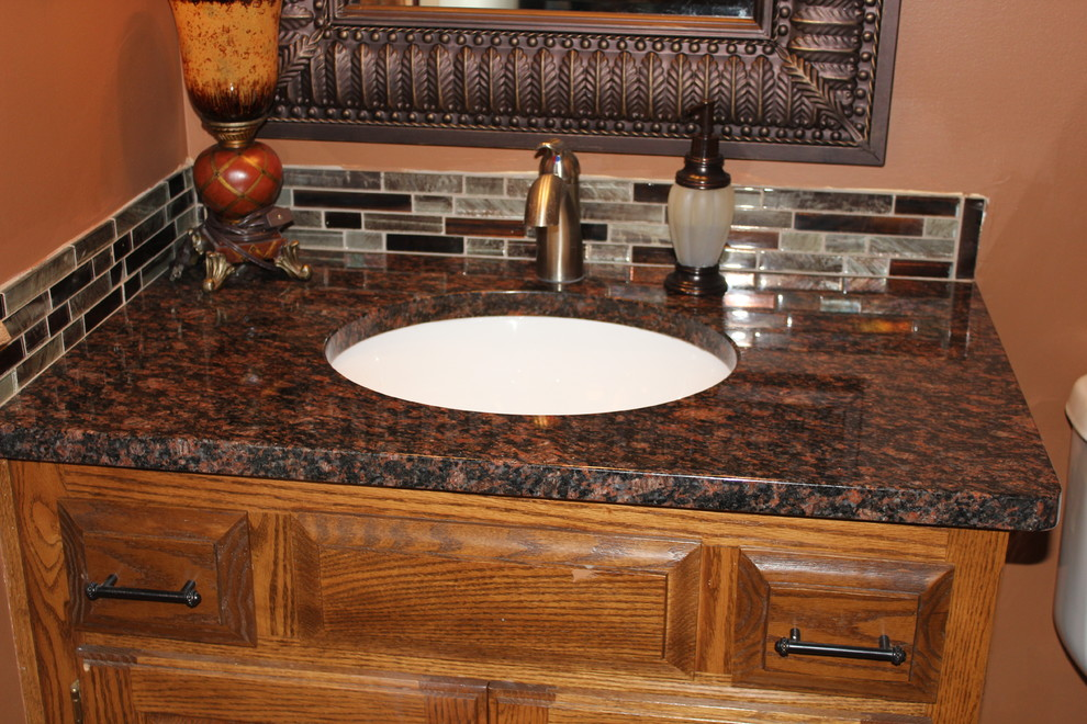 Outstanding Tan Brown Granite Traditional Bathroom Kansas City Download Free Architecture Designs Embacsunscenecom