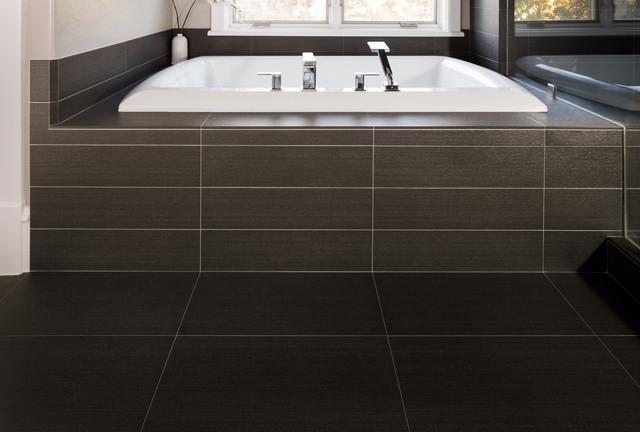 Tarkus Tile Black Master Bath Contemporary