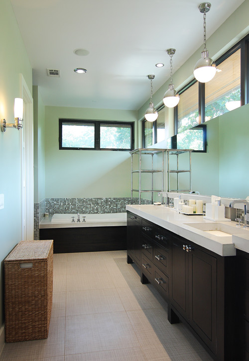 contemporary bathroom Color of the Month: Decorating with Seafoam