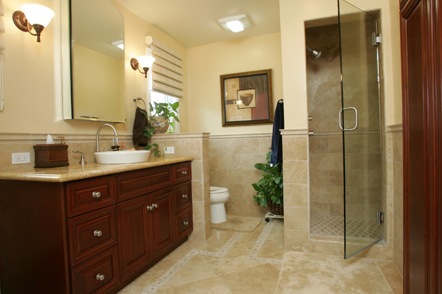 Tarzana mediterranean master bathroom remodel mediterranean bathroom other metro by - Mediterranean bathroom design ...