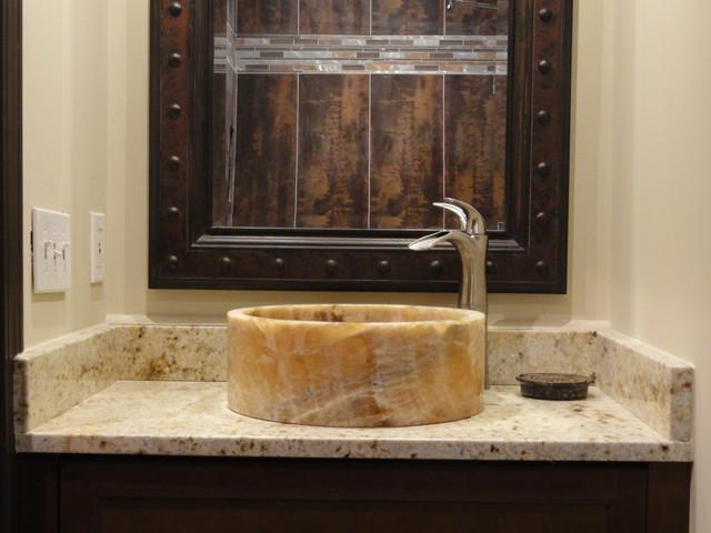 Tashmart spaces modern bathroom atlanta by for Master bathroom vessel sink