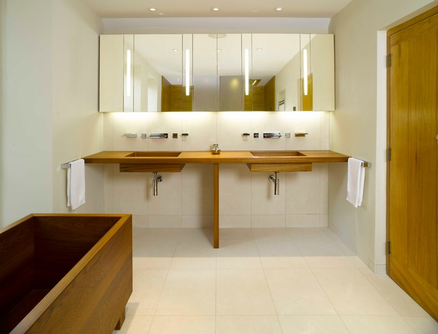 Teak Bathroom On Dartmoor Modern Bathroom Other By William - Teak bathroom countertop