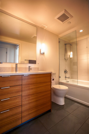 Teak Ikea Bathroom Contemporary Bathroom Los Angeles