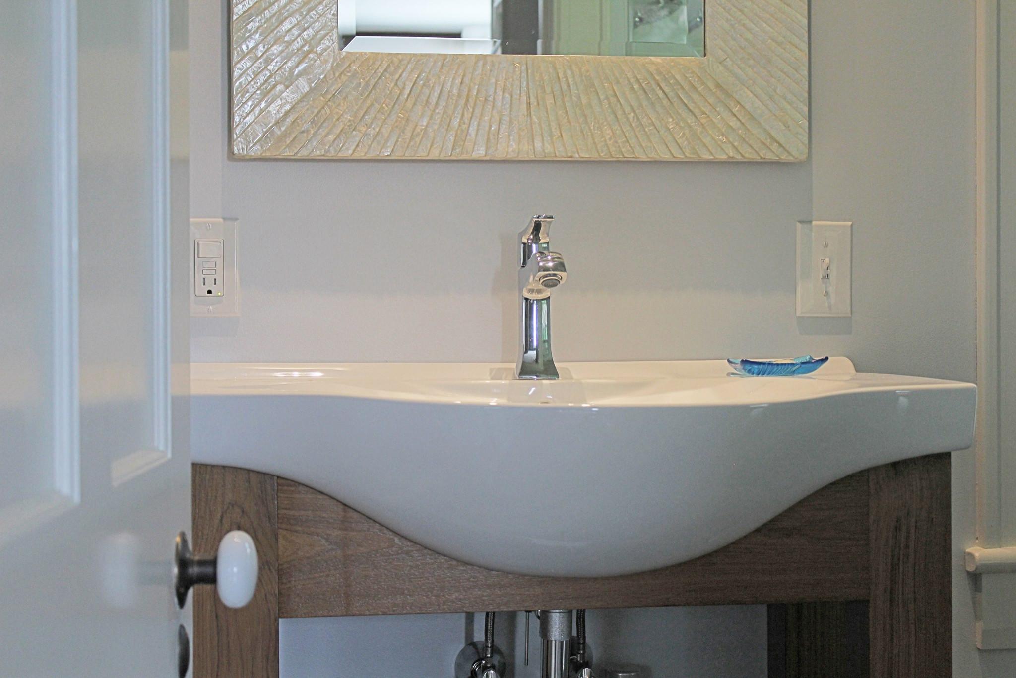 Teak Vessel Sink Vanity
