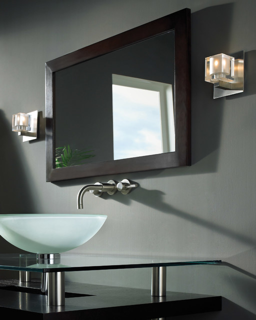 Tech Lighting 700WSCUBFS Cube Wall Sconce w/ Frost Glass - Contemporary - Bathroom - chicago ...