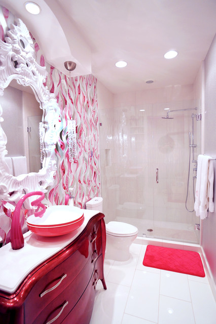 Teen girls bath and bedroom san antonio tx contemporary for Cool bathroom ideas for girls