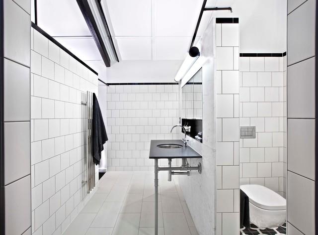 Teneriffe Warehouse Apartment Industrial Bathroom