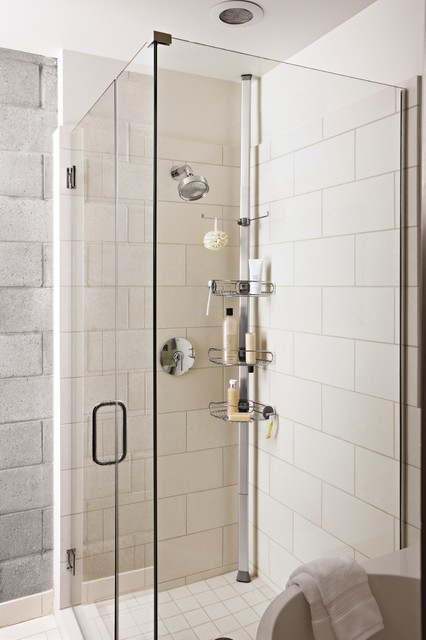 tension shower caddy - Modern - Bathroom - Los Angeles - by simplehuman