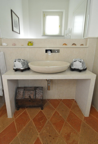 Terracotta Bathroom Floor Tiles. Terracotta Floors Mediterranean Bathroom