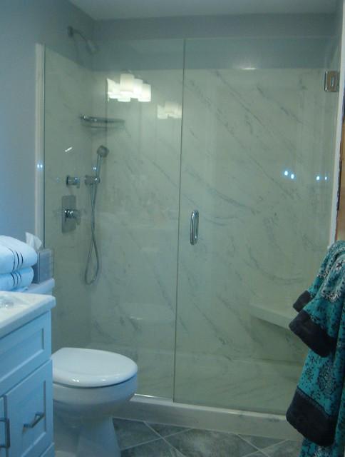 Terrastone Shower Walls Traditional Bathroom Boston