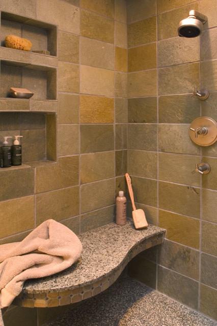 Terrazzo Shower Bathroom Contemporary Bathroom Seattle