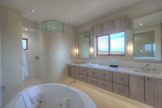 Territorial update master bathroom contemporary for Updated master bathrooms