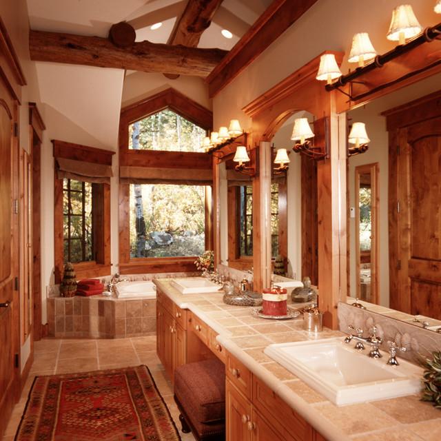 Teton Village Residence traditional-bathroom