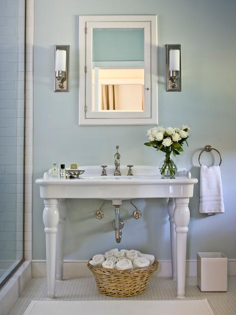 Tewksbury Barn Conversion - Farmhouse - Bathroom - new york - by Michelle Drollette Architect