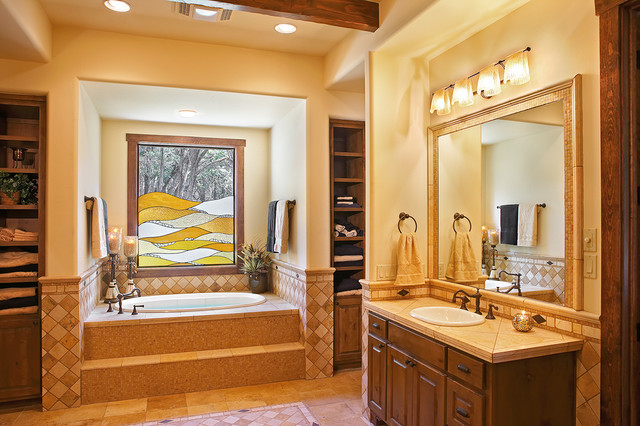 Texas Hill Country Style Southwestern Bathroom Austin By Refined Interiors Llc