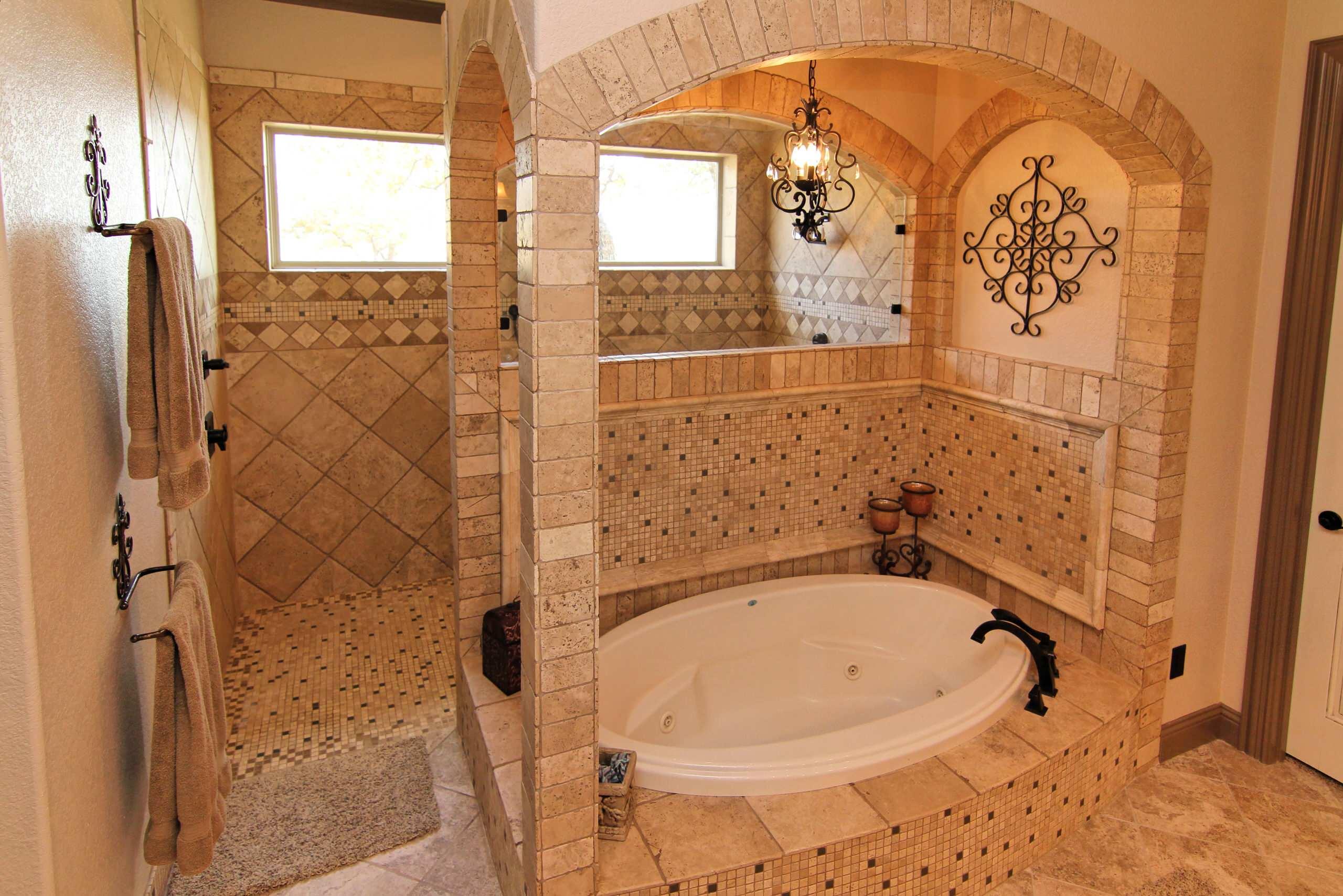 Texas Tudor - master bath