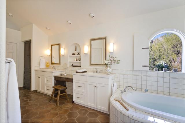 textural bath mediterranean-bathroom