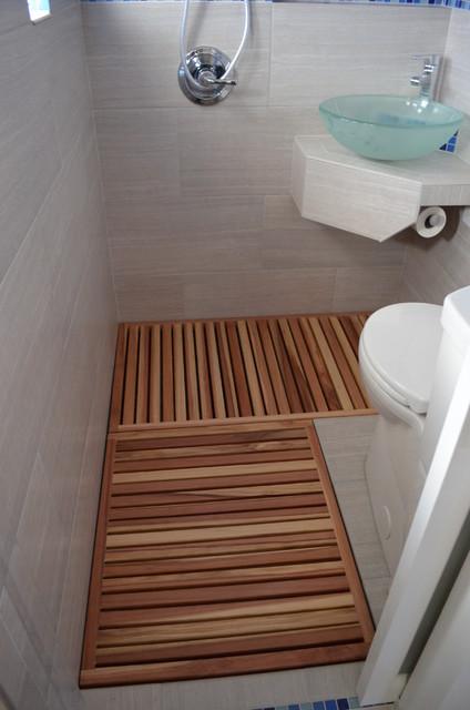 Thai style micro bathroom addition modern bathroom for Micro bathroom