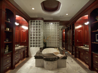 Does Dark Brown Furnitures Go Very Well With This Gray Tile As In Pic