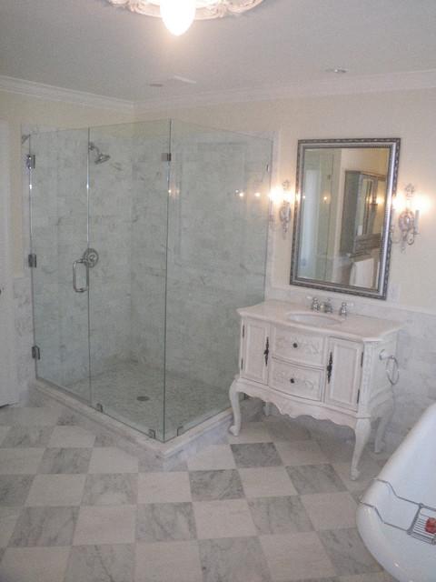 Thassos   Marble Checker Board Master Bathroom traditional bathroom. Thassos   Marble Checker Board Master Bathroom   Traditional
