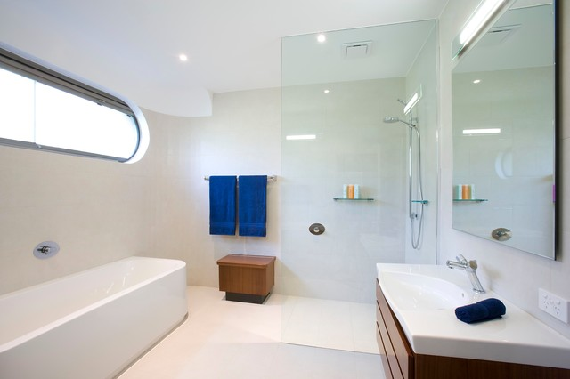 The 80's in reinvented contemporary-bathroom