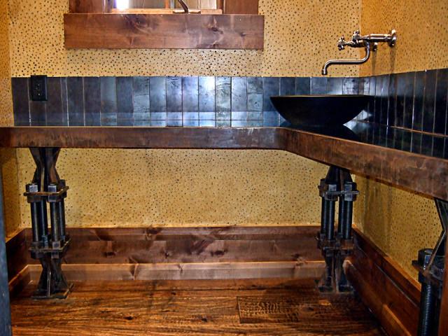 The Andesite Vanity Industrial Bathroom By Brandner Design