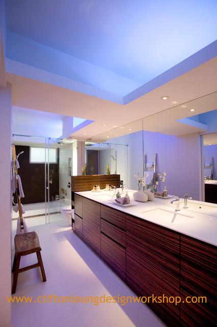 The Babington House - Interaction of contrasting elements contemporary-bathroom