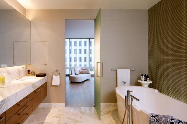 The bachelor pad contemporary bathroom san francisco for Bachelor bathroom ideas