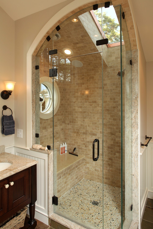 Perfect Adding light was one of the top goal for home owners with their bathroom remodels from adding windows to skylights to LED lights in the showerhead
