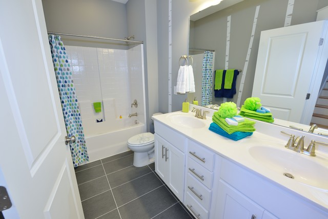 The Bella Homeplan Transitional Bathroom Raleigh