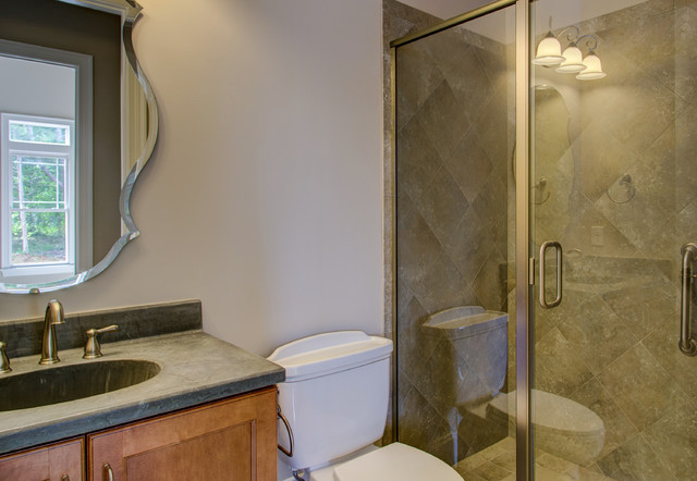 The belle traditional bathroom raleigh by collins for Collins design build