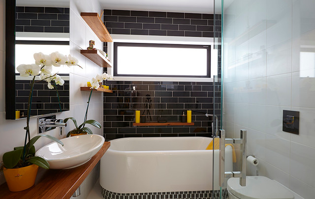 The block nz season ii contemporary bathroom for Bathroom decor nz